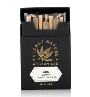CBG Hemp Flower Pre-Rolled Joints – 7-Pack
